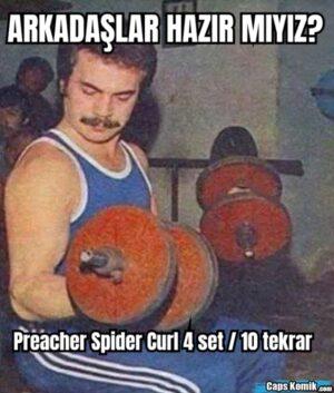 ARKADAŞLAR HAZIR MIYIZ? Preacher Spider Curl 4 set / 10 tekrar