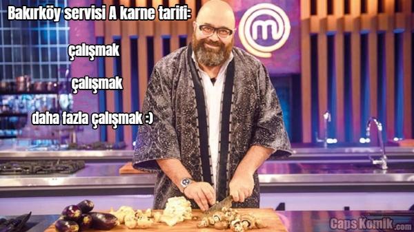 Bakırköy servisi A karne tarifi: çalışmak çalışmak daha fazla çalışmak :)