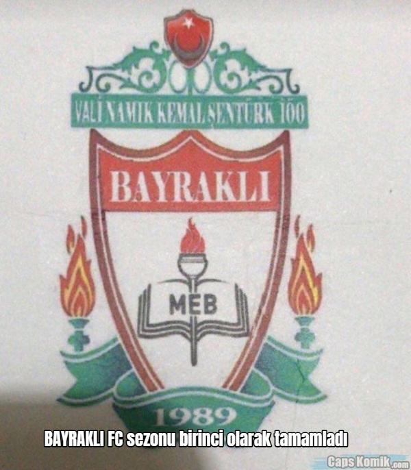 BAYRAKLI FC sezonu birinci olarak tamamladı