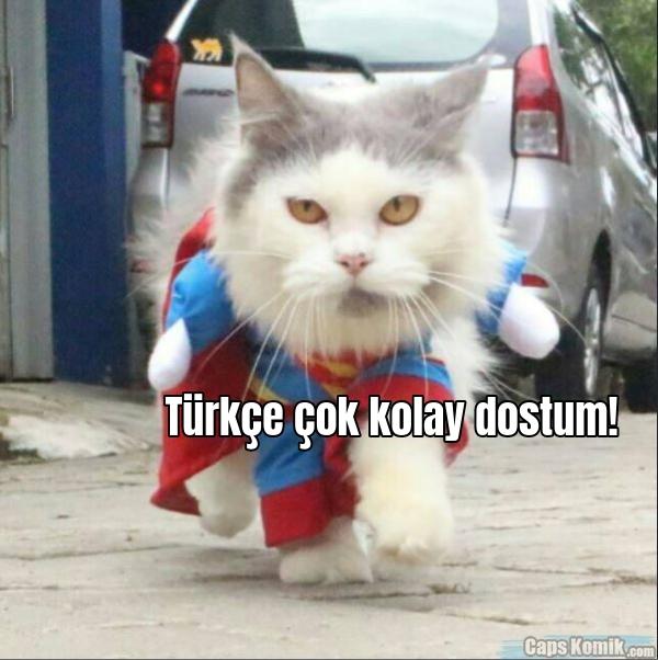 Türkçe çok kolay dostum!