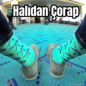 Halıdan Çorap