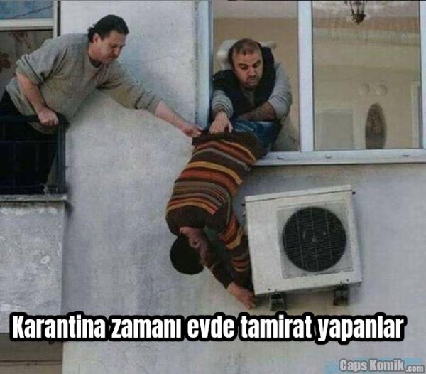 Karantina zamanı evde tamirat yapanlar