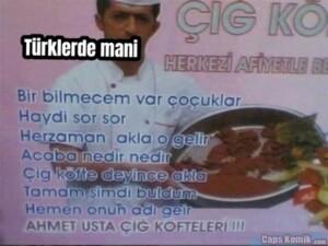 … Türklerde mani