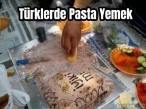 Türklerde Pasta Yemek…