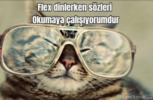 Flex dinlerken sözleri… Okumaya çalışıyorumdur