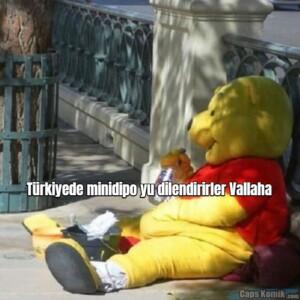 Türkiyede minidipo yu dilendirirler Vallaha