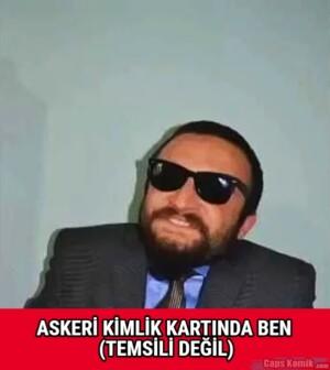 ASKERİ KİMLİK KARTINDA BEN (TEMSİLİ DEĞİL)
